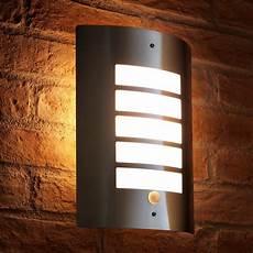 auraglow dusk till dawn daylight pir motion detection sensor outdoor wall light stainless