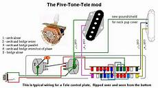 tele five way switch wiring telecaster guitar