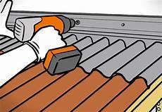 dach wandanschluss abdichten dach decken mit bitumenwellplatten obi ratgeber