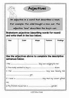 adjectives worksheets and fun writing prompts tpt