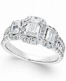 macys wedding rings lyst macy s diamond engagement ring 2 ct t w in 14k white gold in metallic