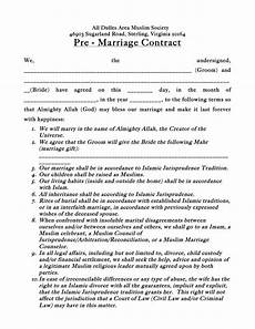 33 marriage contract templates standart islamic jewish ᐅ template lab