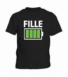 T Shirt Humour Batterie Maman Fille Livraison Gratuite
