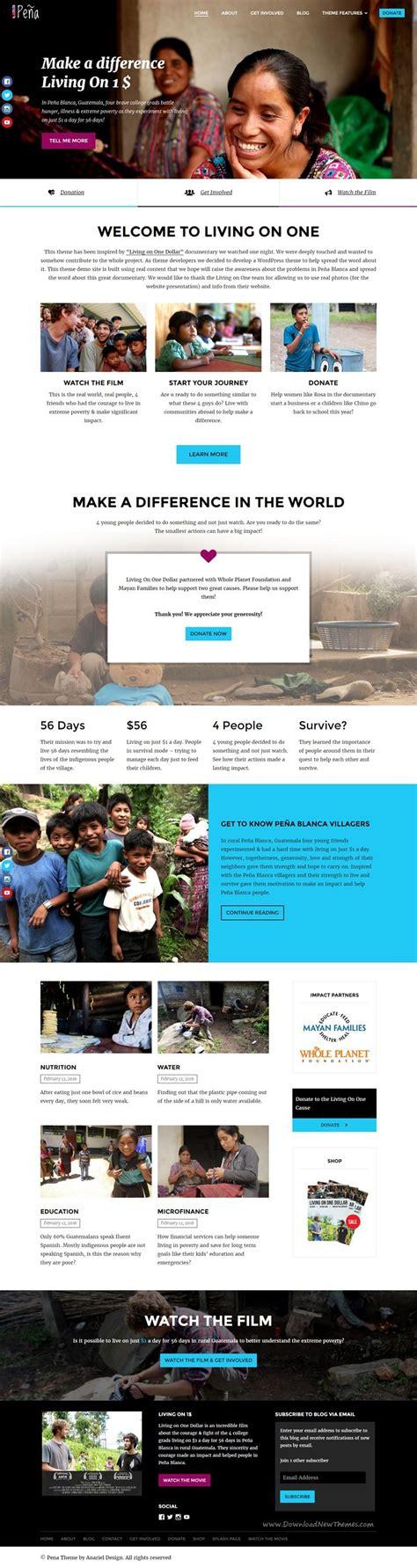 pena v1 1 4 charity non profit wordpress theme