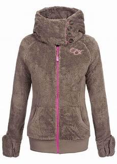 eight2nine damen teddy fleece jacke integrierte handschuhe