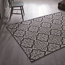tapis moderne noir et cr 232 me mosaic flair rugs 130x180