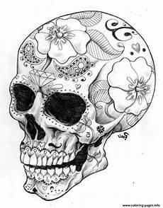 Ausmalbilder Erwachsene Totenkopf Coloring Pages Skulls Coloring Home