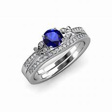 blue sapphire and diamond butterfly engagement ring