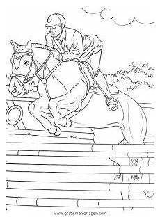 ausmalbilder pferde springreiten springreiten gratis malvorlage in sport verschiedene