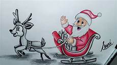 how to draw merry christmas drawings step by step and happy new year santa clouse drawing