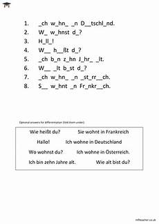 german preschool worksheets 19671 german simple greetings missing vowels worksheet teaching resources