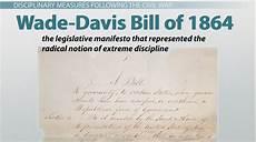 wade davis bill of 1864 definition summary