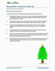 2nd gade mixed addition subtraction word problems worksheets k5 learning