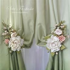 fiori per tende articoli simili a spalle cravatta rosa fiore embrasse