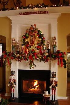 Fireplace Mantel Decorations by Adventures In Decorating Nutcracker Mantel