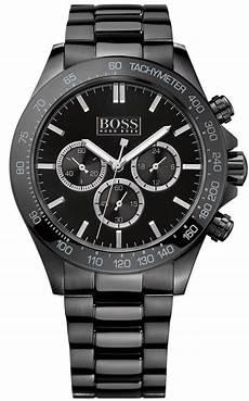 boss uhren herren schwarz s black hugo chronograph steel 1512961