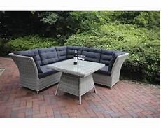 Gartenmöbel Set Lounge - dining lounge set destiny palma 5 sitzer 4teilig hellgrau