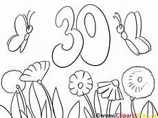Malvorlage Geburtstag Zum Ausdrucken Malvorlage Zum 30 Geburtstag