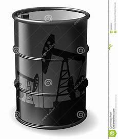 bido costruzioni barile di petrolio illustrazione vettoriale illustrazione