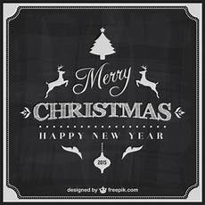 black and white merry christmas card vector free download