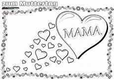 Ausmalbilder Geburtstag Herz Muttertag Ausmalbild Malvorlage Gru 223 Mit Herz