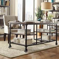 used home office furniture for sale nelson industrial modern rustic storage desk by inspire q