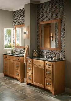 bathroom ideas oak oak with beautiful mosaic backsplash bathroom remodel