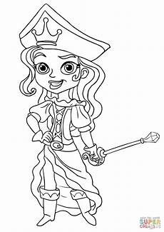 the pirate princess coloring page free printable