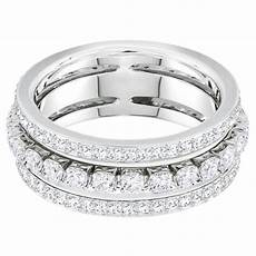 bague swarovski bijoux parent 5441189 acier argent 233