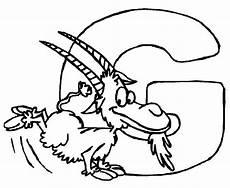 Ausmalbilder Buchstaben Mit Tieren Ausmalbild Buchstaben Lernen Tierschrift G Kostenlos