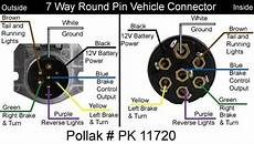 7 Pin Wiring Diagram Ford Tractor by How To Wire The Pollak 7 Pole Pin Trailer Wiring
