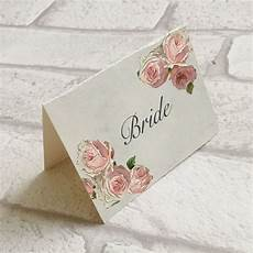 wedding table guest place name cards pink rose vintage style of 10 ebay