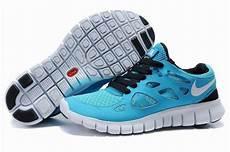 komfortabel damen nike free run 2 schwarz blau 45