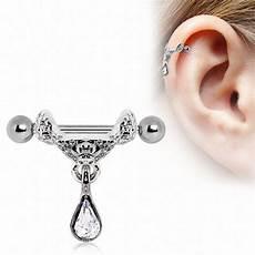 Piercing Barre Cartilage Piercing Cartilage Pendentif Tiare
