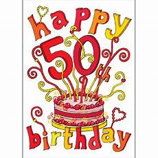 Happy 50th Birthday Images Clipart Best