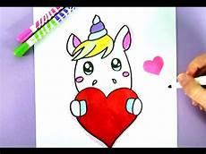 unicorn einfach malvorlagen ein niedliches einhorn selber malen kawaii einhorn