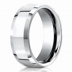 benchmark palladium men s wedding band polished bevel edges 6mm