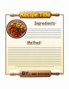 Recipe Card Book Template by 44 Cookbook Templates Recipe Book Recipe Cards