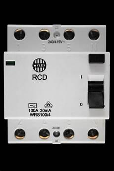 wylex 100 30ma four pole rcd wrs100 4 wylex circuit breaker specialists