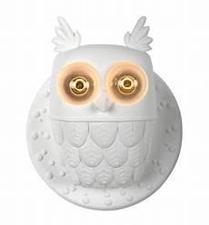 ceramic wall light ti vedo ti vedo wall light ceramic owl 216 36 h 40 cm white by karman made in design uk