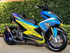 Aerox 155 Modif by Modifikasi Aerox 155 Terbaru 2019 Simple Minimalis