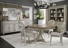 farmhouse reimagined white extendable oval dining room from liberty coleman furniture