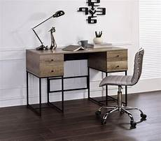 buy home office furniture home office executive desk rustic oak black desirre