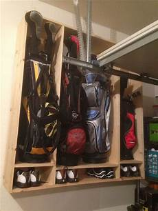 52 garage golf bag storage monkey bars small golf bag