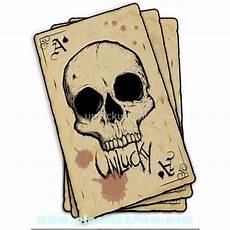 as de pique sticker unlucky ace of spade skull card carte as de pique