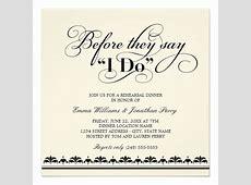 White Wedding Invitations: Wedding Rehearsal Dinner