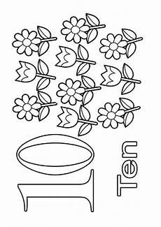 Malvorlagen Rakete Count The Ten Sweet Flowers A4 Jpg 595 215 842 Pixel Feinmotorik