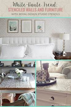 Home Decor Ideas White Walls by White Decor Trend Wall Stencils And Painted Furniture