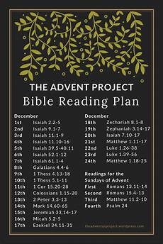 advent bible reading plan the advent project