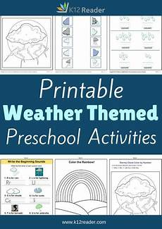 weather preschool theme activities printable classroom